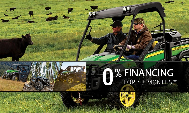 View finance offer details for Gator™ XUV and RSX.