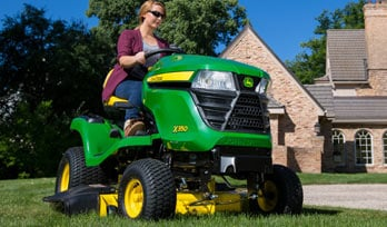 X300 Select Series mowing grass