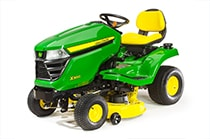 X300 Tractor with 42-inch mulching deck