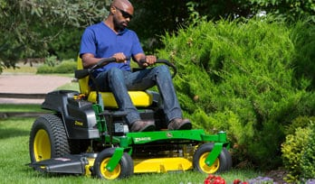 Man enjoying the new Z500 Ztrak mower