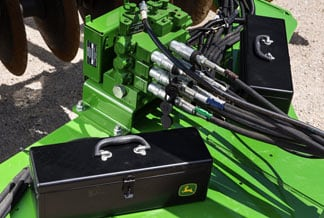 Image showing truset and tool box next to John Deere machine