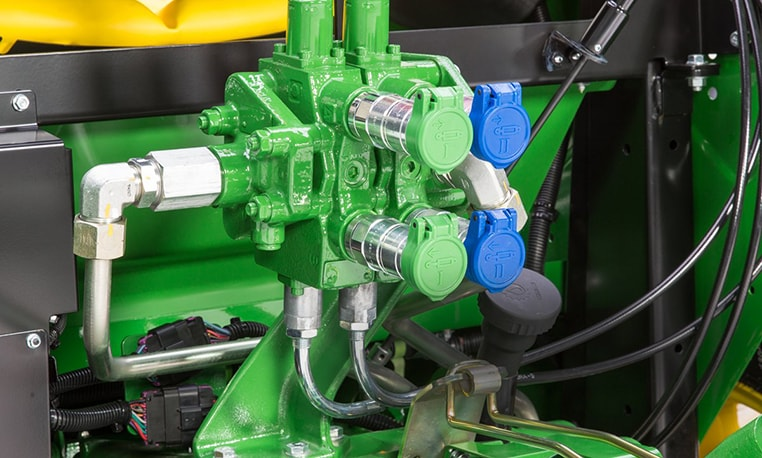 Close up image of valves on tractor
