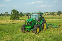 6E Series Utility Tractor in a field