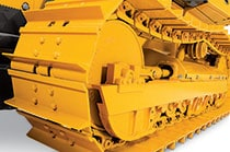 Image of an John Deere construction equipment undercarriage