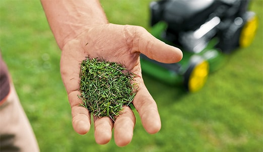 Natural goodness: The nitrogen-rich clippings are returned to the lawn as natural fertiliser.