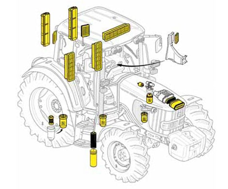 John Deere Tractor Fuel Filter Change on john deere lawn tractors parts diagram
