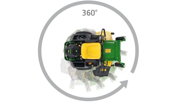 John Deere Ztrak Zero Turn Mowers You'll be impressed by their exceptional trimming capabilities.