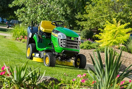 The John Deere X115R Rear-Discharge Rear-Collect Tractor