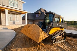 The John Deere 323E is part of the new E-Series of Compact Track Loaders.