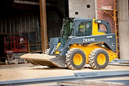 The John Deere 328E – a new E-Series Skid Steer machine.
