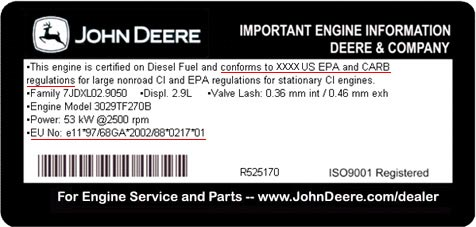 Certified Engine Label