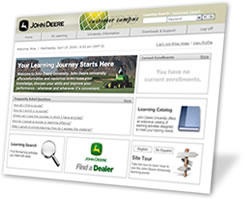Online courses at John Deere University