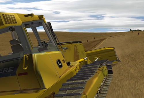 Learn fine grading with a dozer while finishing a side slope.