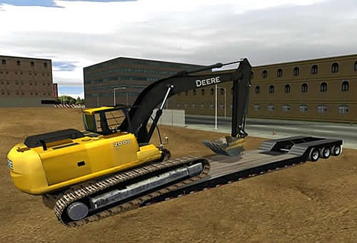 Learn to safely load an excavator onto a lowboy trailer.