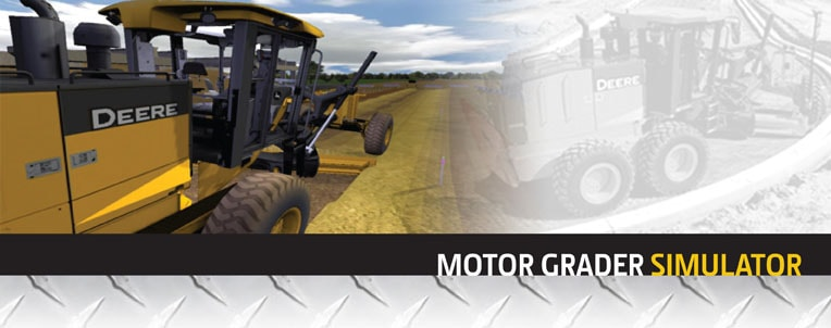 Motor Grader simulator for training from John Deere