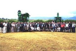 The group of 120 delegates who attended the Africa Sugar Cane Seminar in Swaziland.
