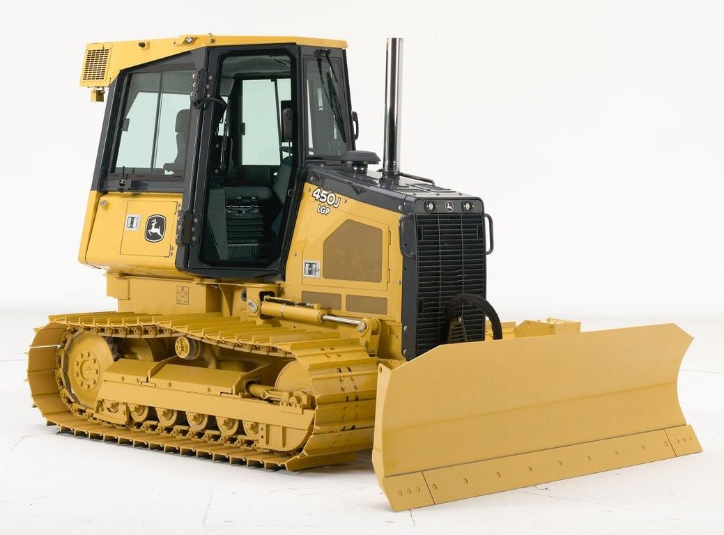 Imagen de estudio Tractor Topador 450J.