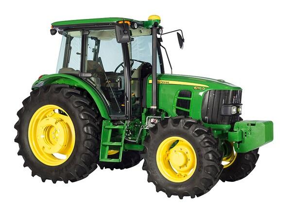 Tractor 6110D foto de estudio