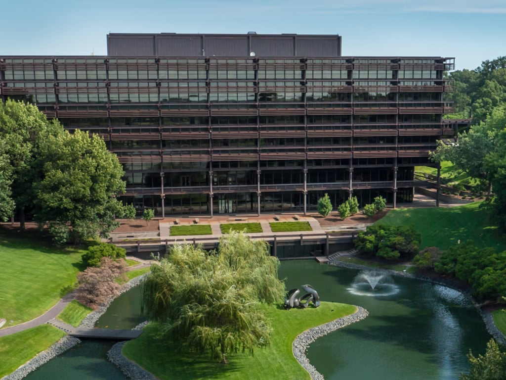 A View From The Front Of The John Deere World Headquarters