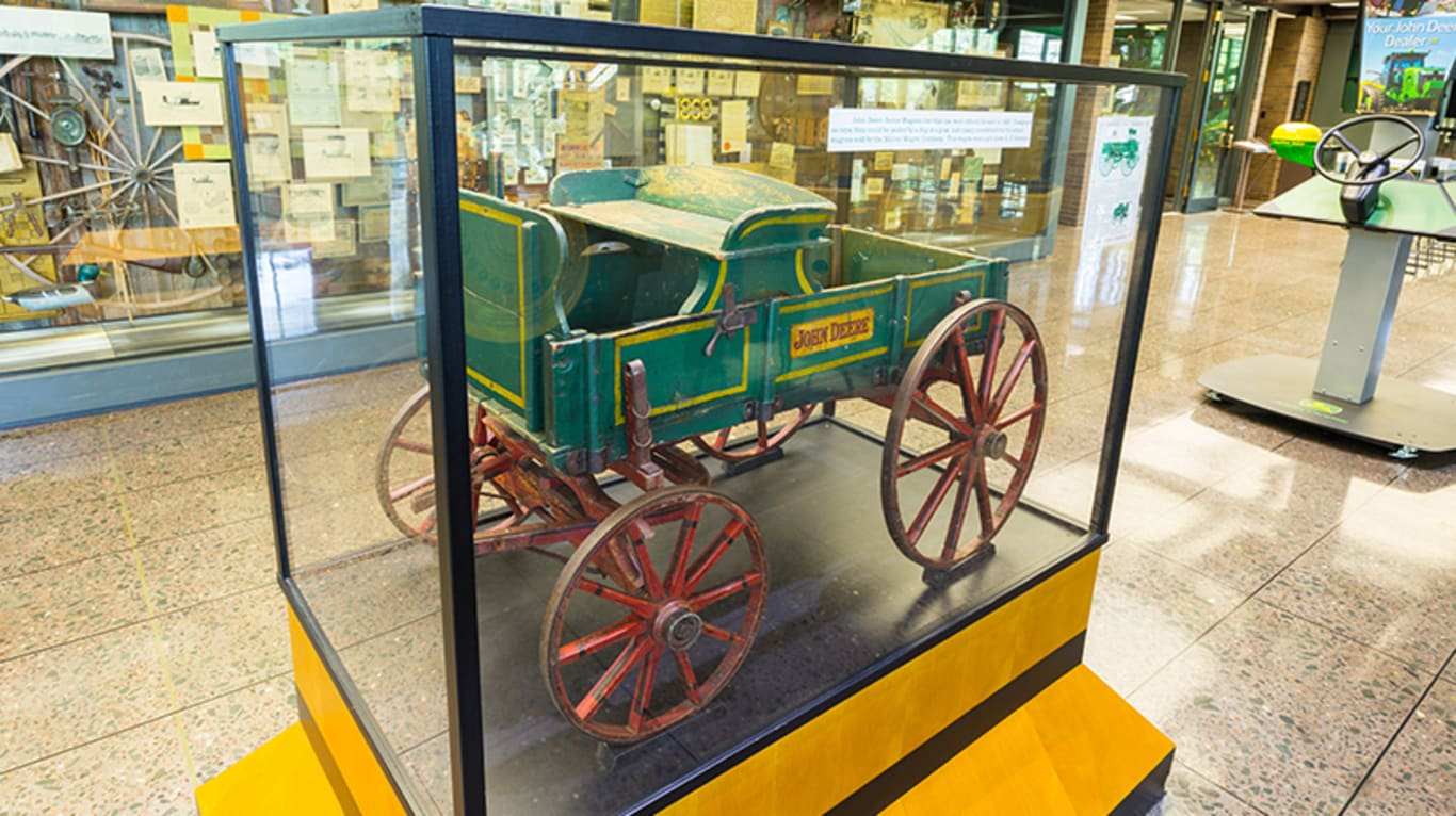 ... A Piece Of John Deere History Sits Inside A Glass Display Case ...