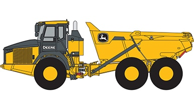 Line art of a John Deere ADT