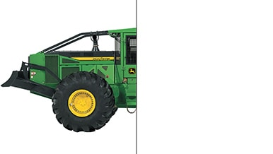 Photo of only half of a John Deere Skidder