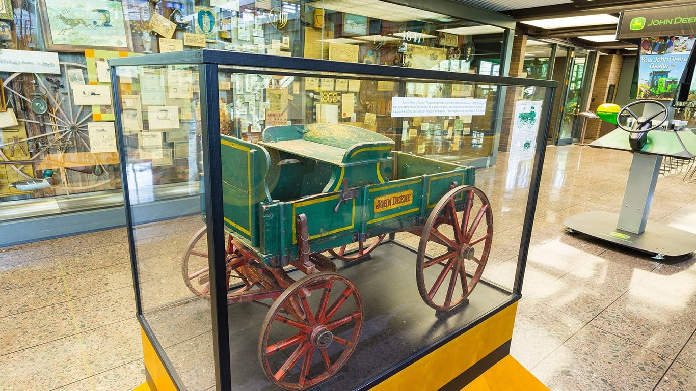 Bon ... A Piece Of John Deere History Sits Inside A Glass Display Case ...