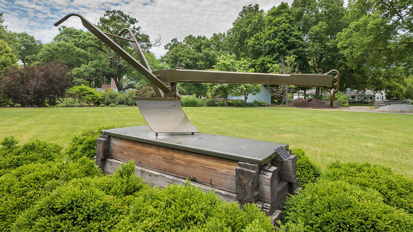 Replica of John Deere's original steel plow
