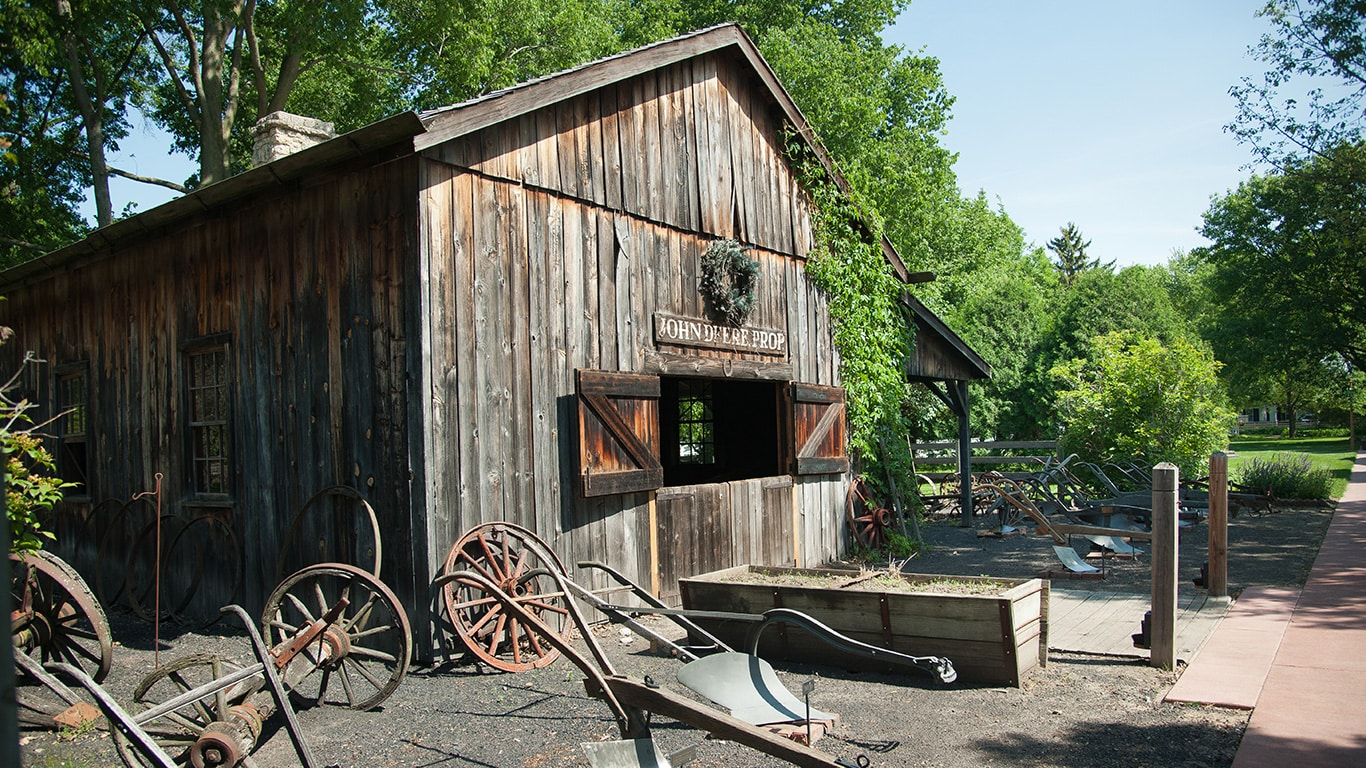 The exterior of the John Deere Blacksmith building