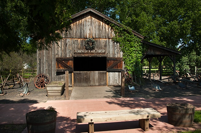 The front exterior of the John Deere Blacksmith building
