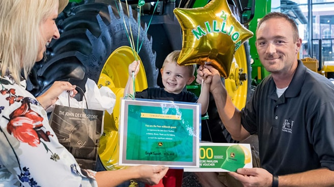 The John Deere Pavilion welcomes four-millionth guest