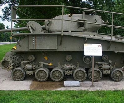 M4A3 Sherman Tank at the Rock Island Arsenal Memorial Park in Rock Island, IL