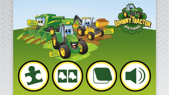 Image of the Johnny Tractor and Friends app