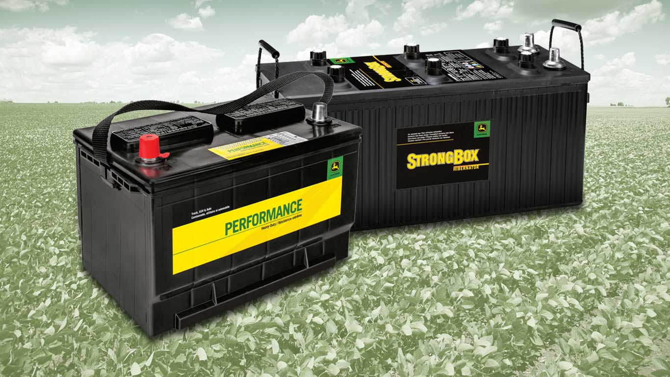 Standard-duty Performance battery and heavy-duty StrongBox battery