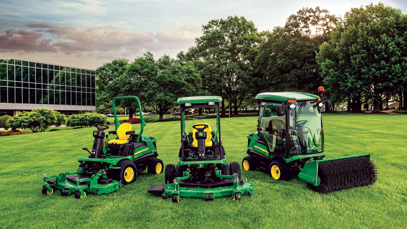 John Deere Commercial Wide Area Mowers and  Front Mowers