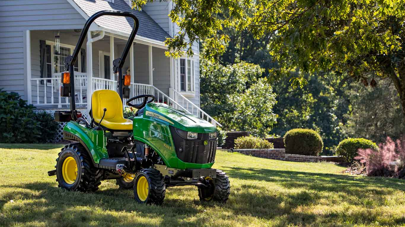 John Deere Sub-Compact Utility Tractor purchased with financing on farm