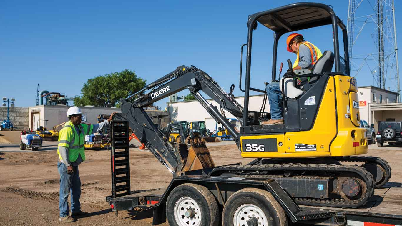 John Deere construction equipment rented with PowerPlan