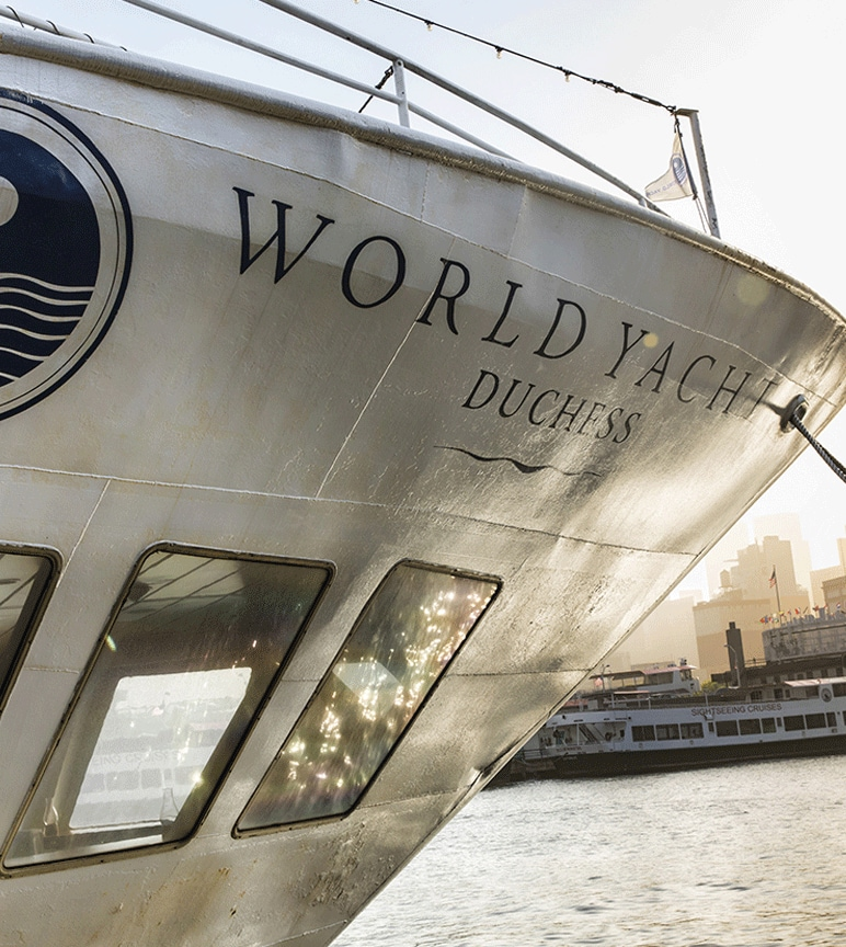 "Close-up of the World Yacht ""Duchess"""
