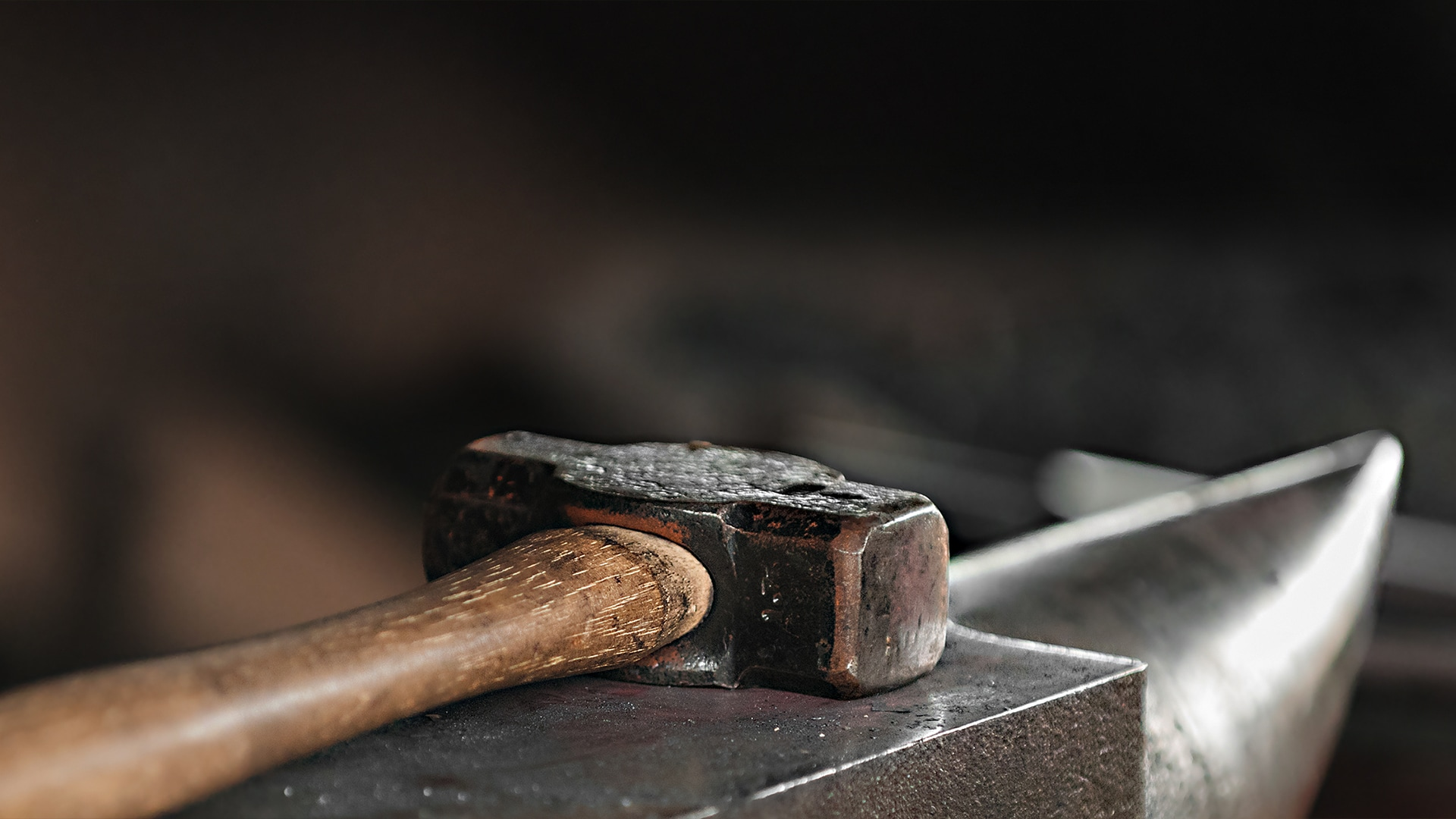 Hammer on Anvil