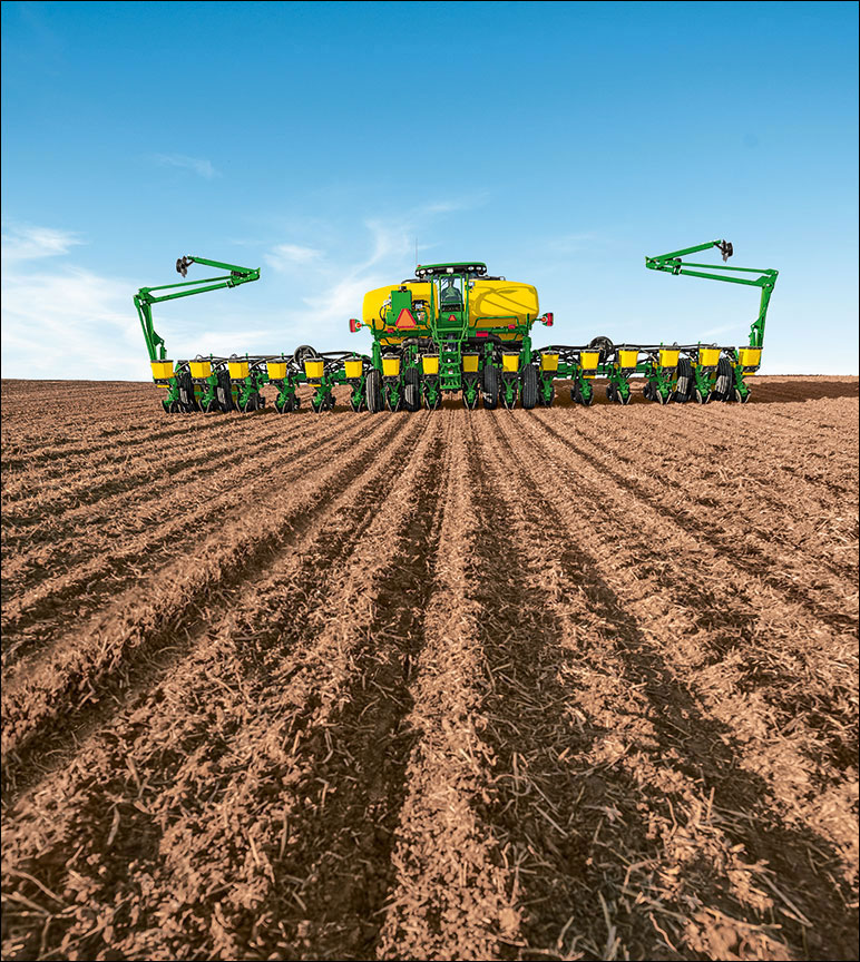 Equipment planting in the field