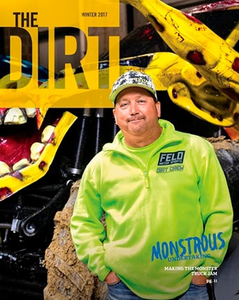 Dirt Magazine Cover man in front of machine