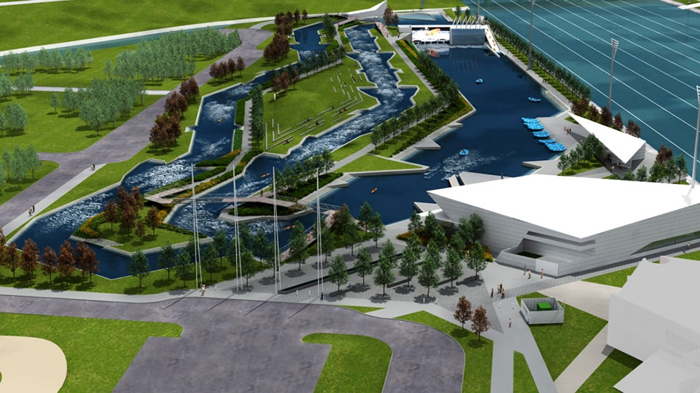 artist rendering of the rapids center
