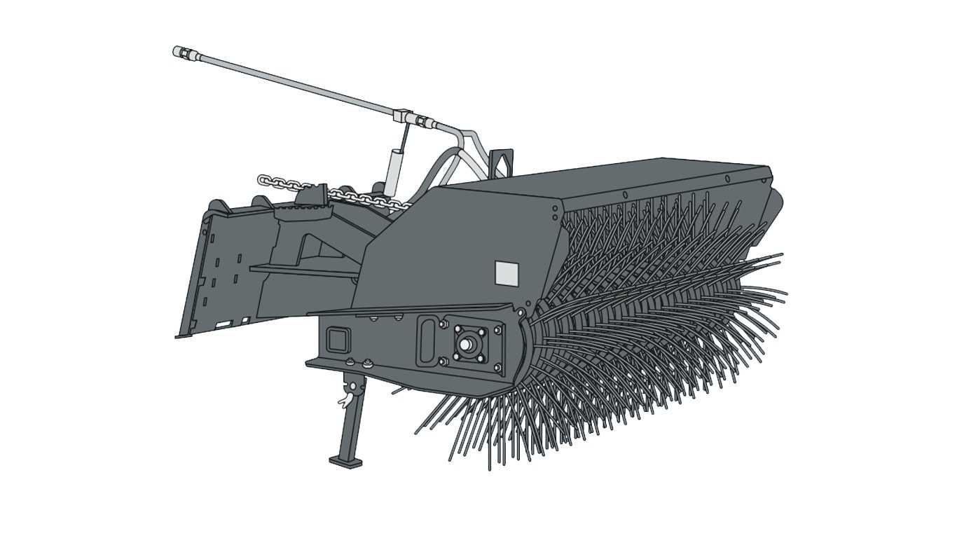 graphic of an angle broom for snow removal