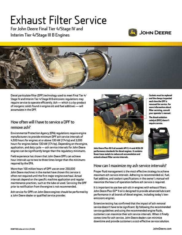Exhaust Filter Cleaning Flyer