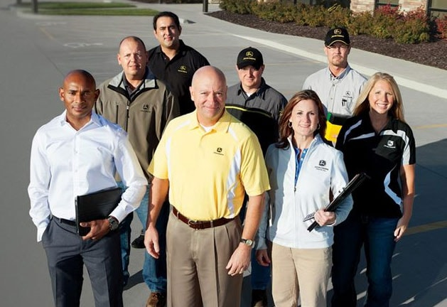 A group of John Deere network employees