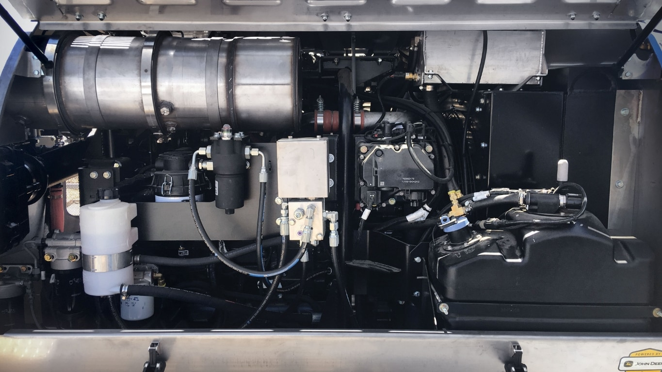 Custom-fit drop-in power unit from John Deere in the Air-O-Fan sprayer