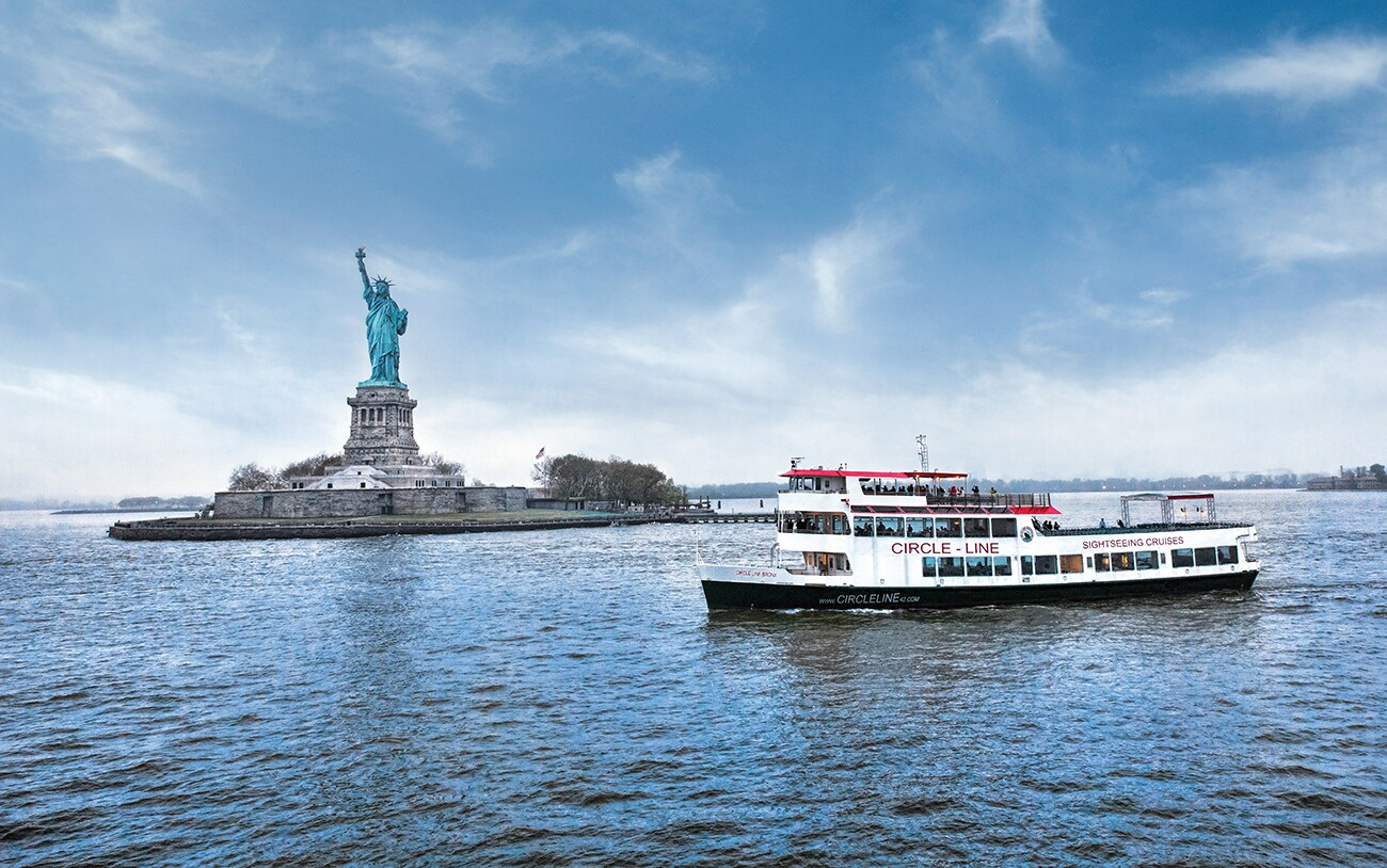 John Deere marine engine provides power on a Circle Line Sightseeing Cruises ship through NYC harbor
