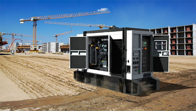 General Power Generator with John Deere Industrial Engine on Jobsite