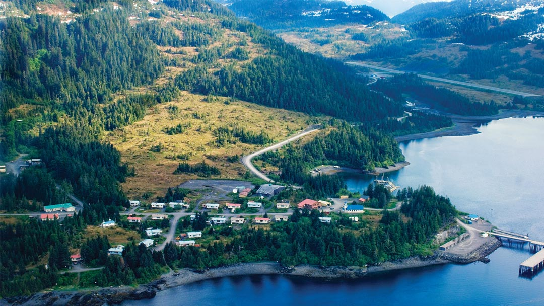 Bird's eye view of Marsh Creek, Alaska