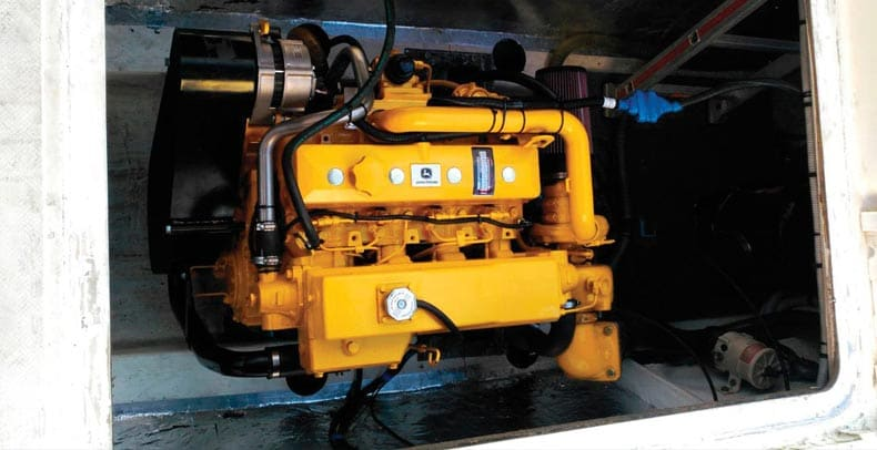 PowerYech 4.5L engine on the ONAWA hull